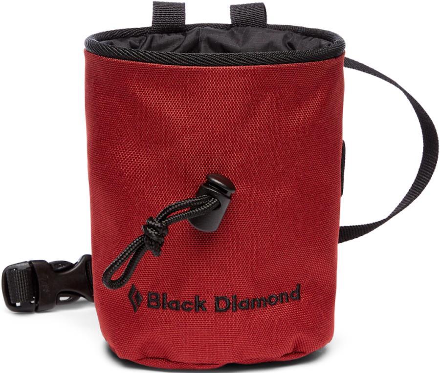Black Diamond Mojo Rock Climbing Chalk Bag, M/L Dark Crimson