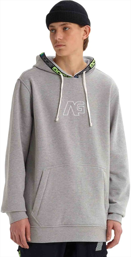 Analog Crux Pullover Ski/Snowboard Tech Hoodie, S Grey Heather