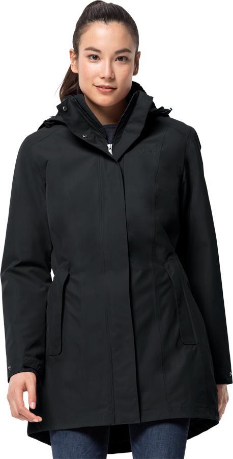 Jack Wolfskin Madison Avenue Womens Insulated Jacket UK 10-12 Phantom