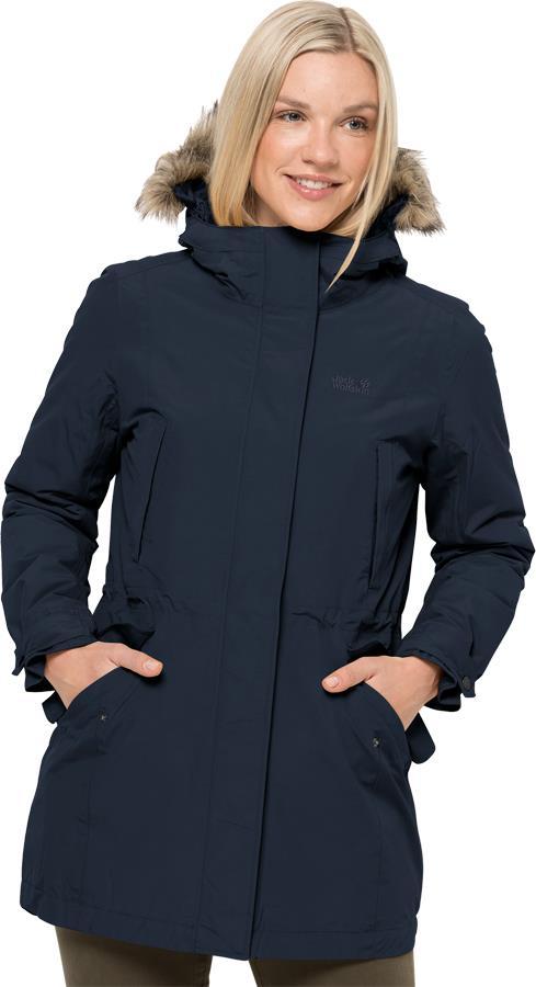 Jack Wolfskin Wildwood Parka Women's Insulated Jacket, UK 14-16 Blue