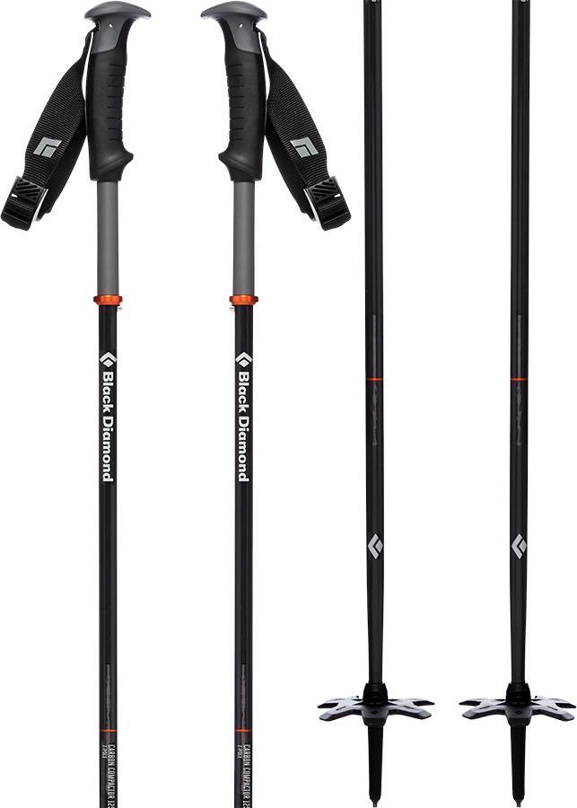 Black Diamond Carbon Compactor Folding Backcountry Ski Pole, 125cm