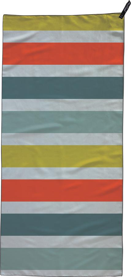 PackTowl Personal Towel Fast Drying Travel Towel, Hand Bold Stripe