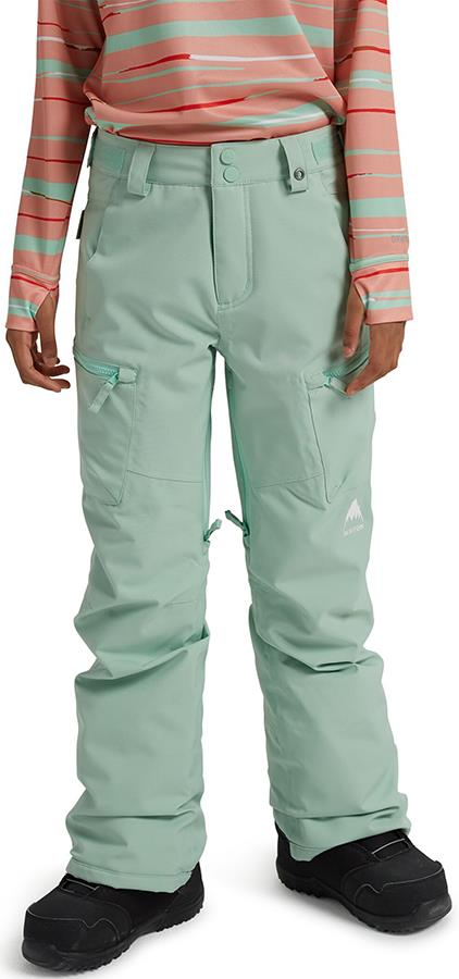 Burton Elite Cargo Girls Snowboard Pants, M Faded Jade