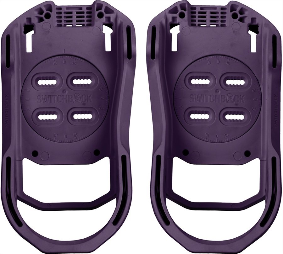 Switchback Base Snowboard Binding Baseplate, S (UK 3-6), Purple Rain
