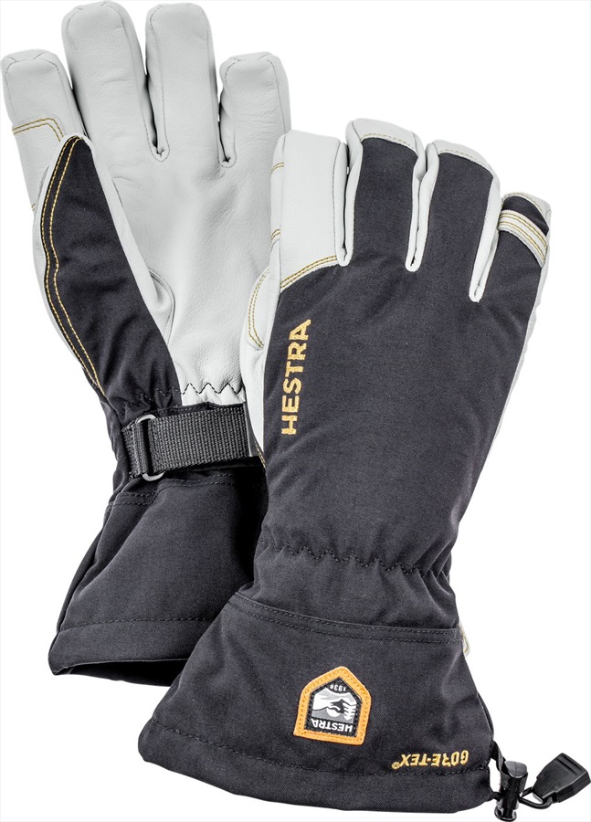 Hestra Army Leather Gore-Tex Ski/Snowboard Gloves, XL, Black