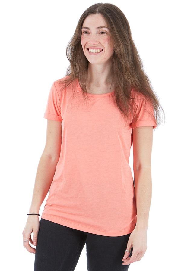 Haglofs Ridge Hike Women's Quick Drying T-Shirt, UK 10 Coral Pink