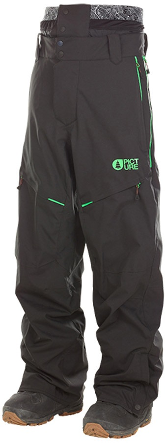 Picture Naikoon Ski/Snowboard Pants, L Black/Green