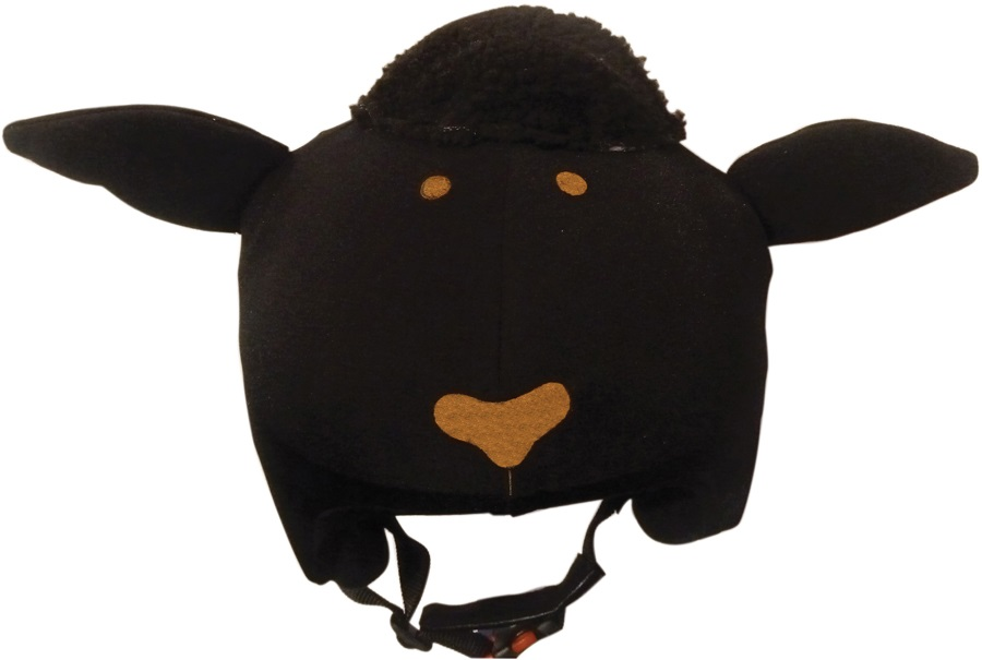Coolcasc Animals Ski/Snowboard Helmet Cover, One Size, Black Sheep