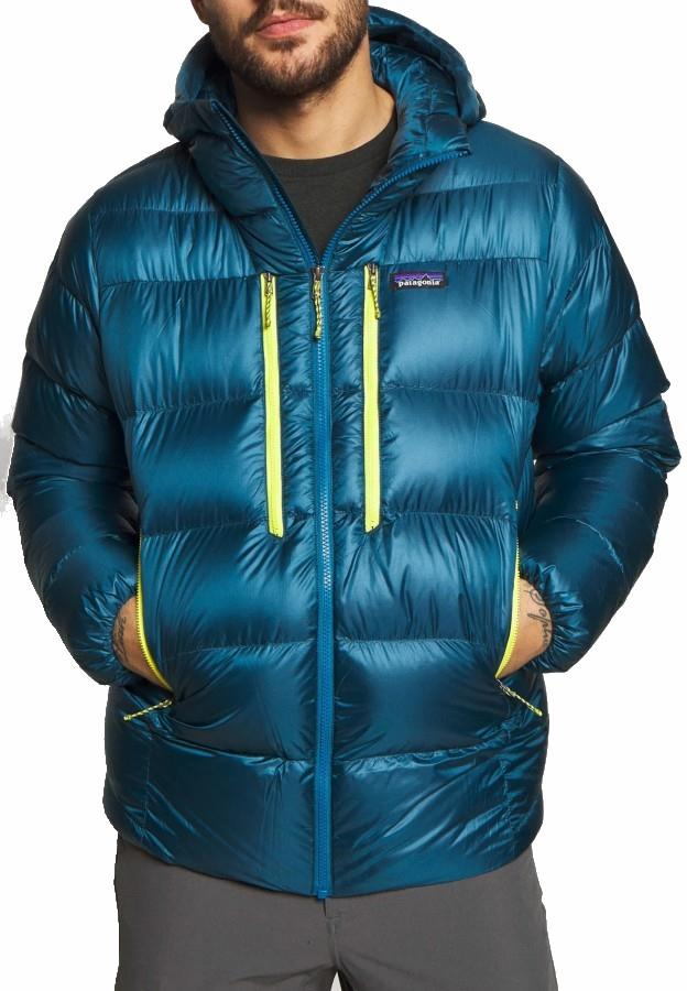 Patagonia Fitz Roy Down Hoody Insulated Jacket, L Crater Blue
