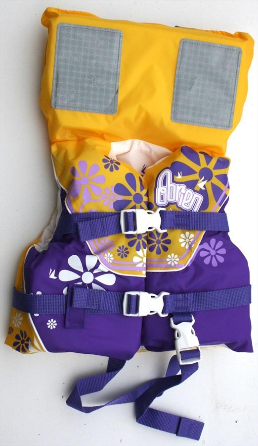 O'Brien Kids Nylon Buoyancy Aid Jacket With Collar, Infant Yel Purp