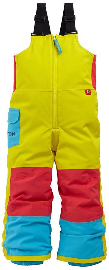 Burton Minishred Maven Bib Kid's Snowboard Ski Pants, 4T Multi
