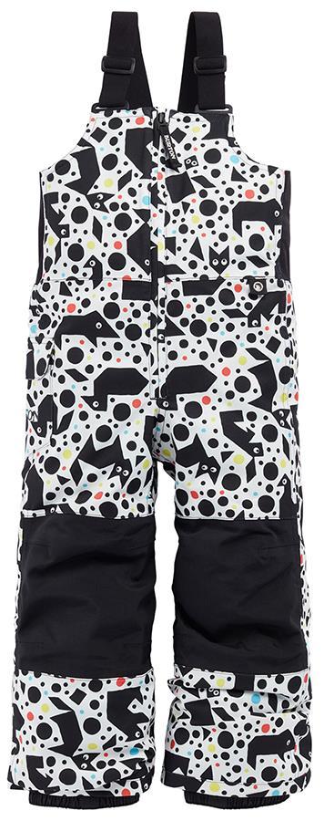 Burton Minishred Maven Bib Kids Snowboard Ski Pants 4T Tangranimals