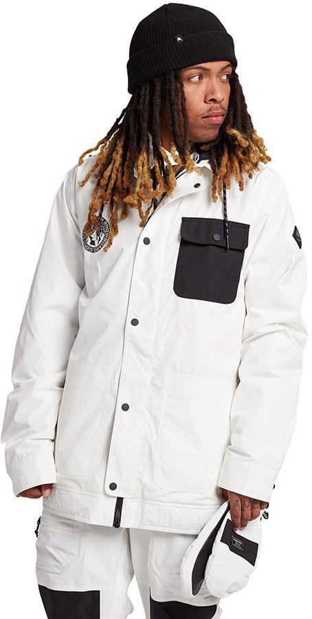 Burton Dunmore Snowboard/Ski Jacket, S Stout White