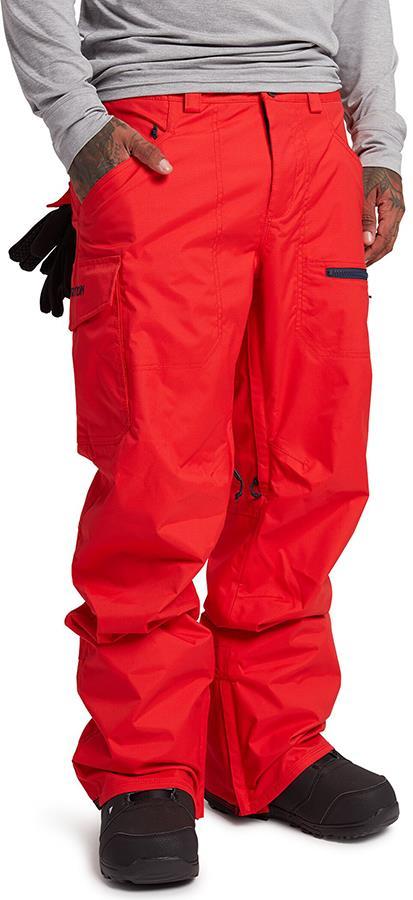 Burton Covert Insulated Snowboard/Ski Pants XL Flame Scarlet