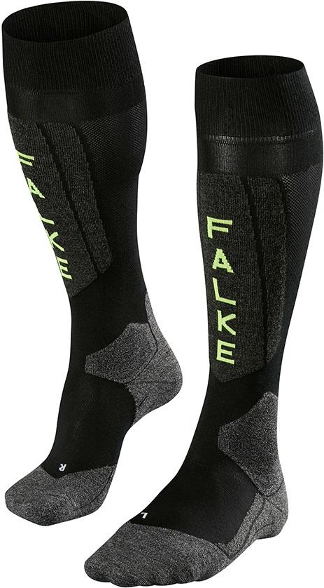 Falke SK5 Ski Socks, UK 5.5-7.5 Black Lightning