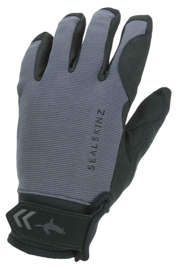 SealSkinz Waterproof All Weather Gloves, M Grey/Black