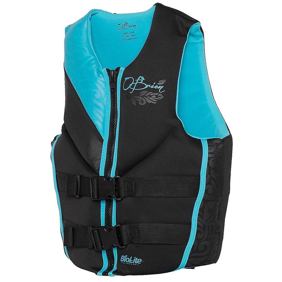 O'Brien Focus Ladies Biolite Buoyancy Jacket, XS Black Blue