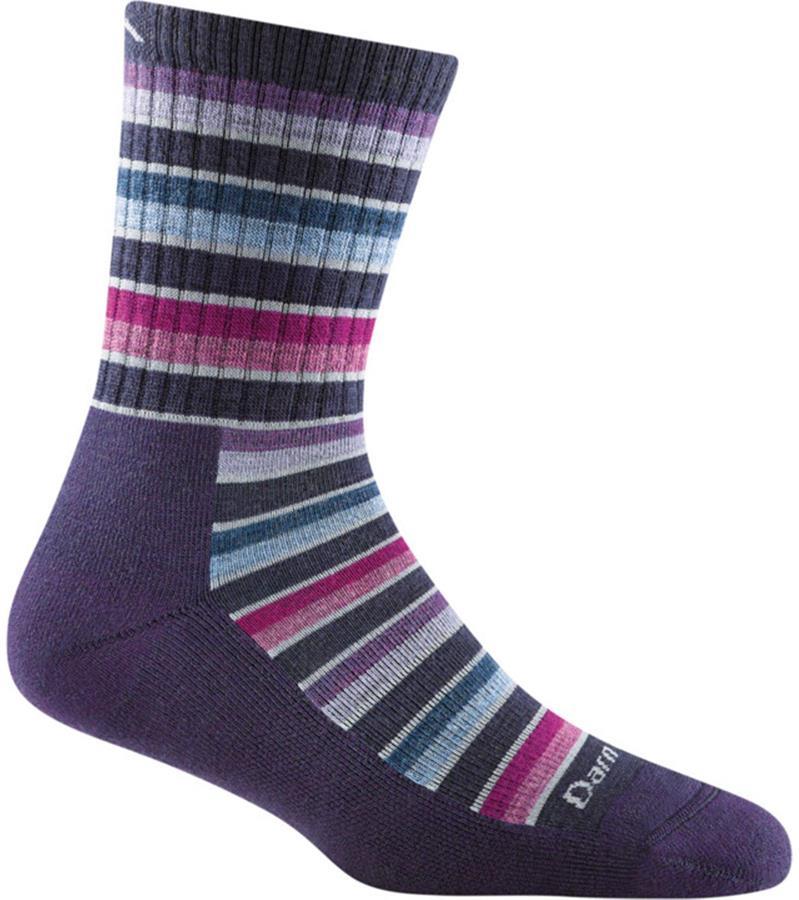 Darn Tough Decade Stripe Micro Crew Women's Hiking Socks S Blackberry