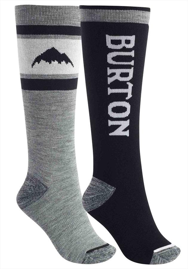 Burton Weekend Midweight 2PK Women's Snowboard Socks, S/M True Black