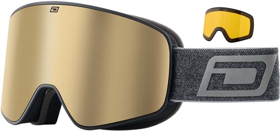 Dirty Dog Mutant Legacy 0.5 Gold Snowboard/Ski Goggles, M Blk-Brown