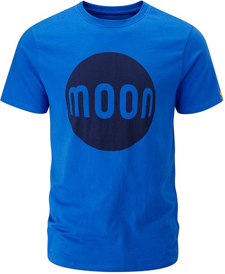 Moon Logo T-Shirt Rock Climbing Tee, L Skydiver