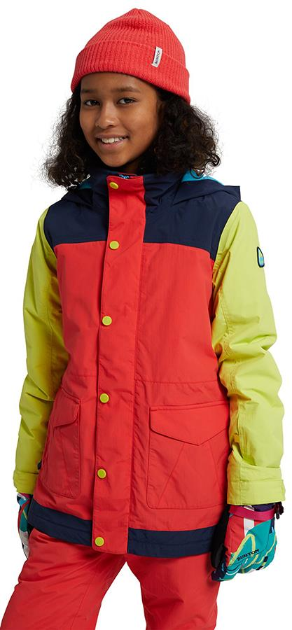 Burton Elstar Girl's Snowboard/Ski Jacket, M Hibiscus/Limeade