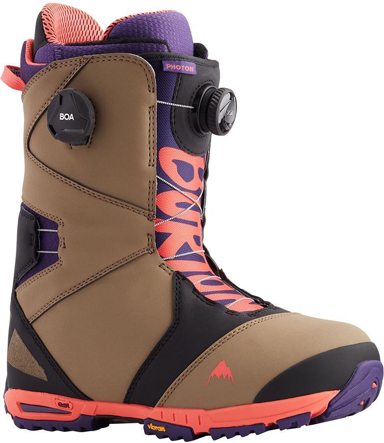 Burton Photon BOA Men's Snowboard Boots, UK 10.5 Ash/Purple/Red 2021