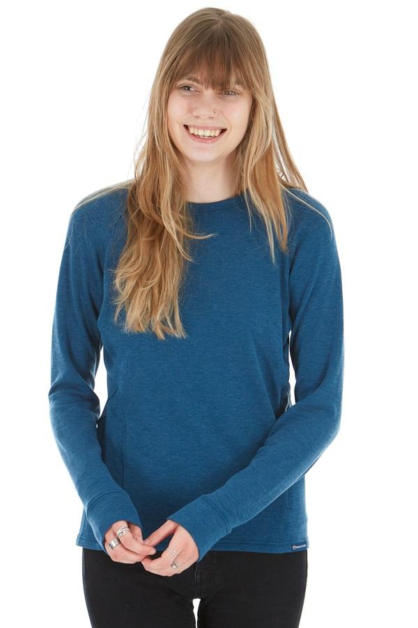 Montane Viper Polartec Women's Fleece Pullover Top, S Narwhal Blue