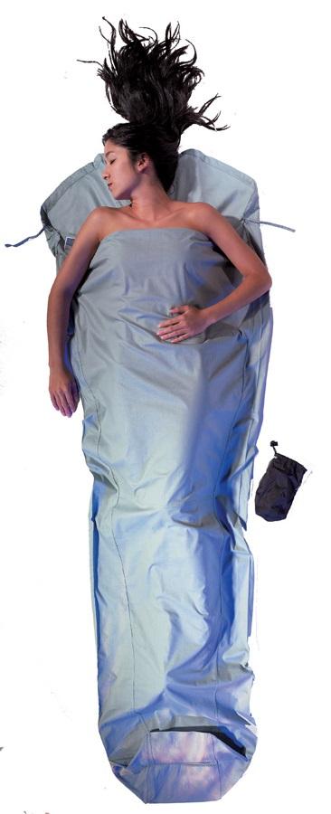 Cocoon MummyLiner Cotton Lightweight Sleeping Bag Liner, Cactus Blue