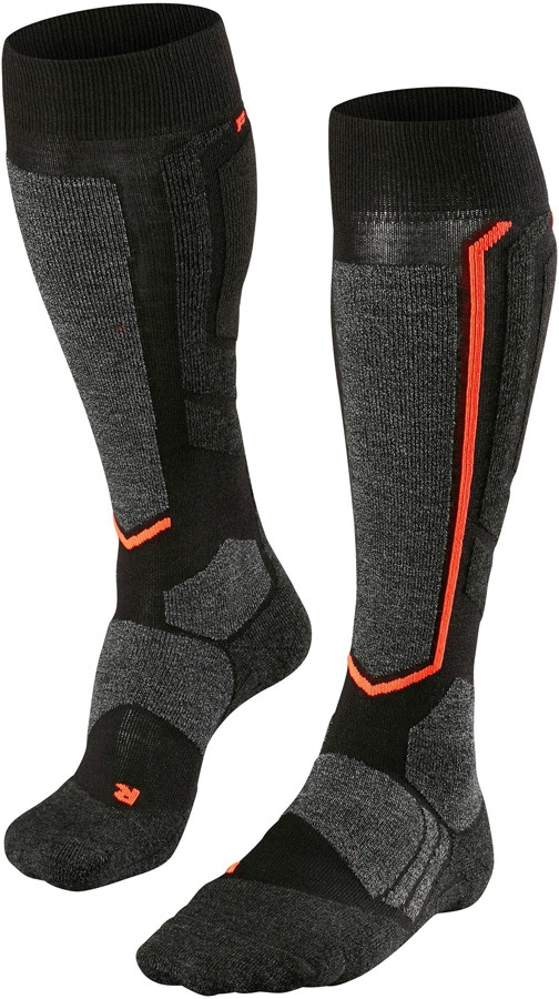 Falke SB2 Merino Wool Women's Snowboard Socks, UK 5.5-6.5 Black-Mix