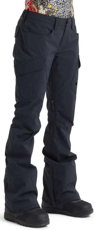 Burton Gore-Tex Gloria Tall Women's Ski/Snowboard Pants, L Black 2020