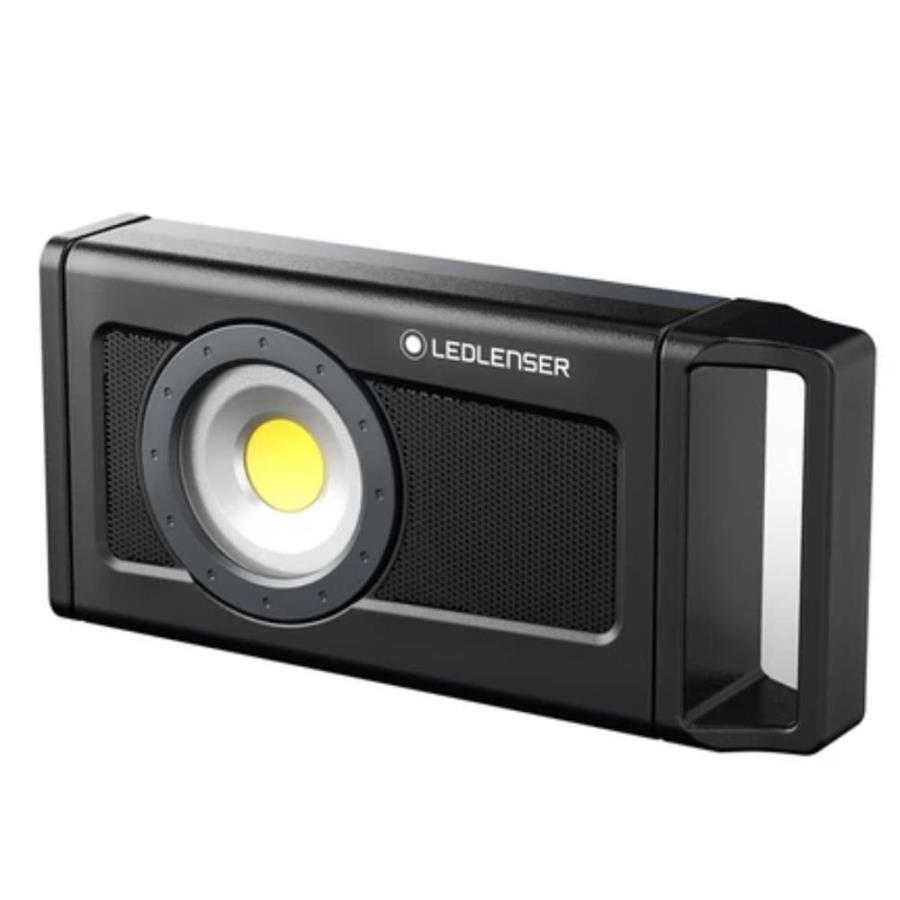 Led Lenser IF4R Music IP54 LED Spotlight & Speaker, 2500 lm Black