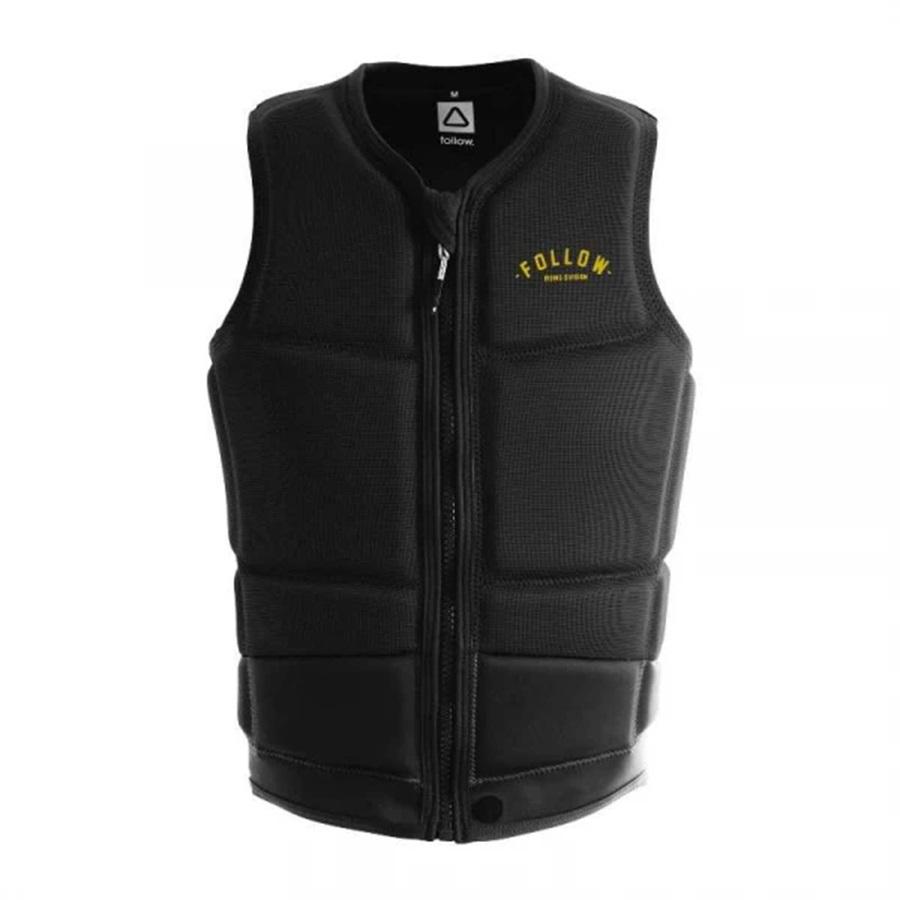 Follow Division Happy Fit Wakeboard Impact Vest, XL Black 2022