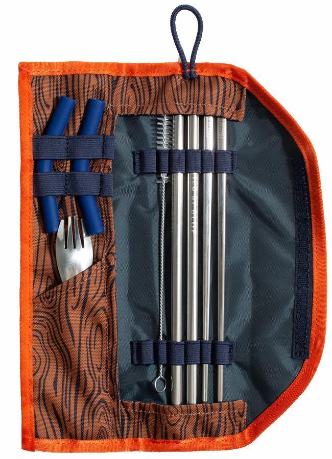 United By Blue Utensil Kit Eco-Friendly Travel Cutlery Set Chestnut