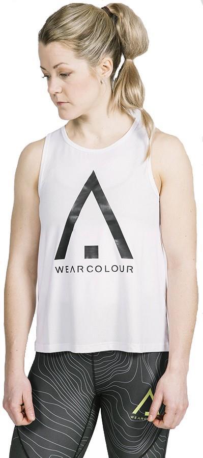 Wearcolour Logo Women's Tank Top Running Vest, XS White