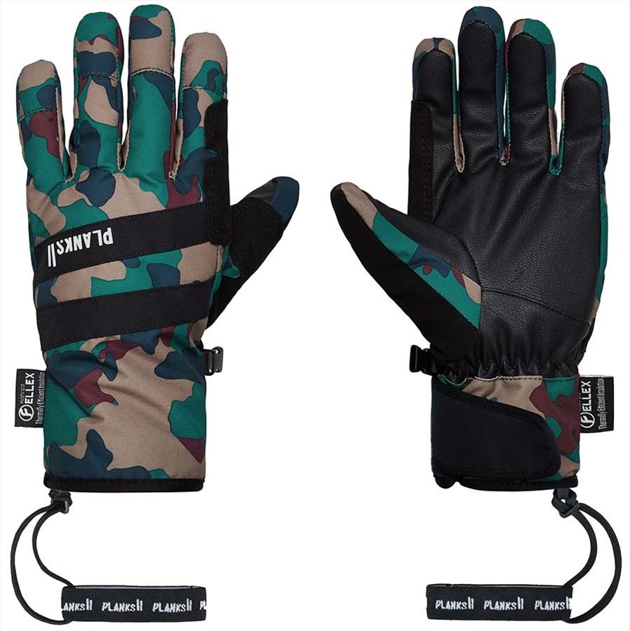 Planks Peacemaker Insulated Ski/Snowboard Gloves, XL Autumn Camo