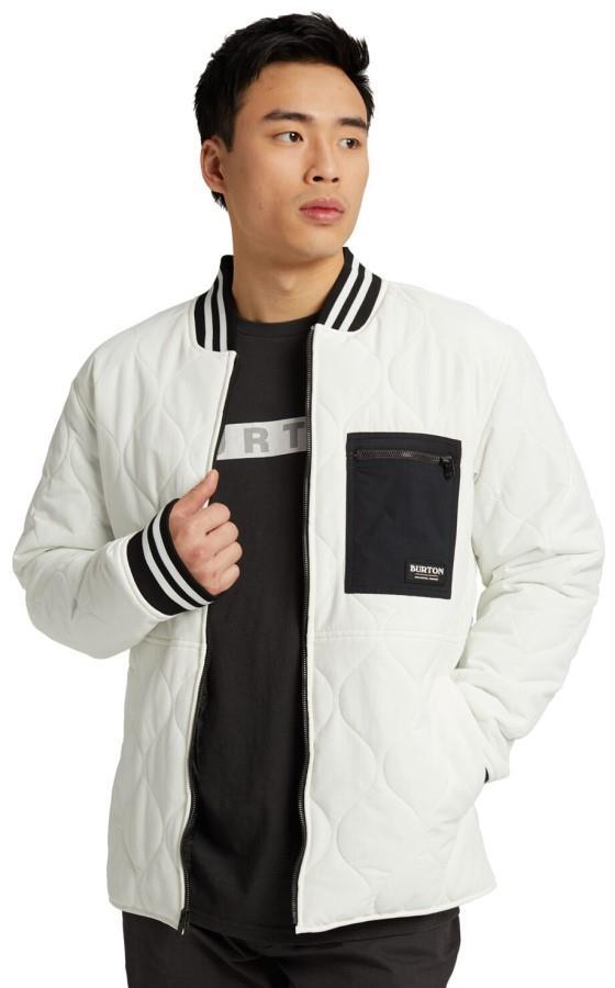 Burton Men's Mallett Winter Bomber Jacket, M Stout White