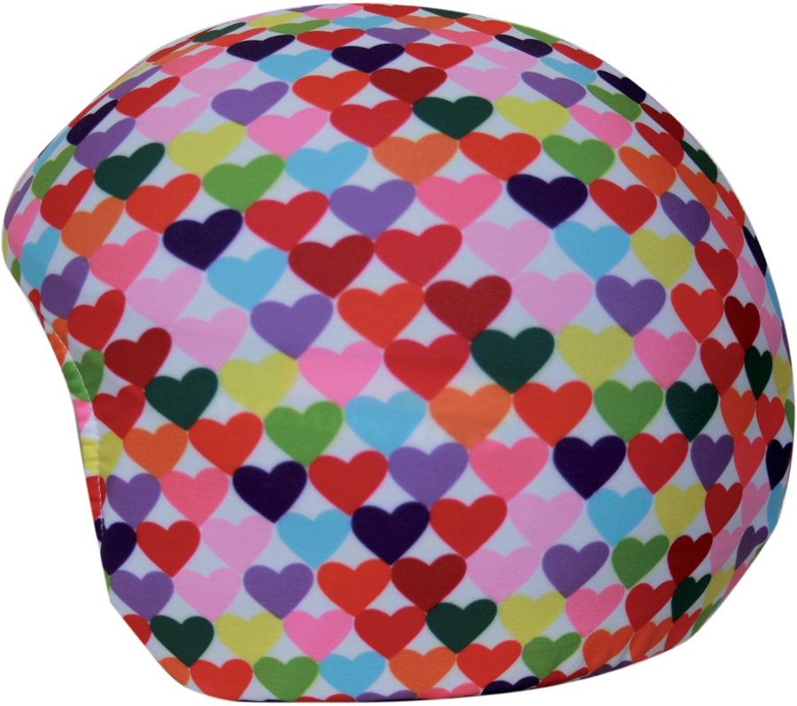 Coolcasc Printed Cool Ski/Snowboard Helmet Cover, Colour Hearts