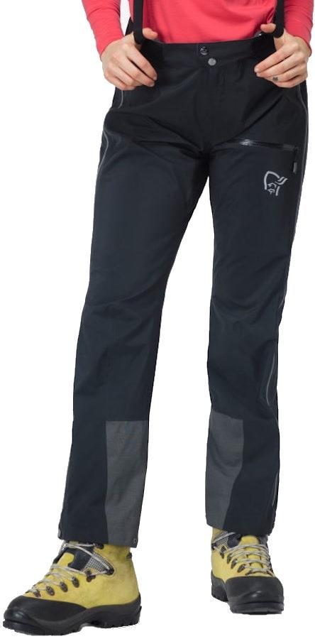 Norrona Trollveggen Pro Light Women's Gore-Tex Trousers UK 10 Caviar