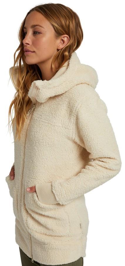 Burton Women's Minxy Women's Full-Zip Fleece S Creme Brulee Sherpa