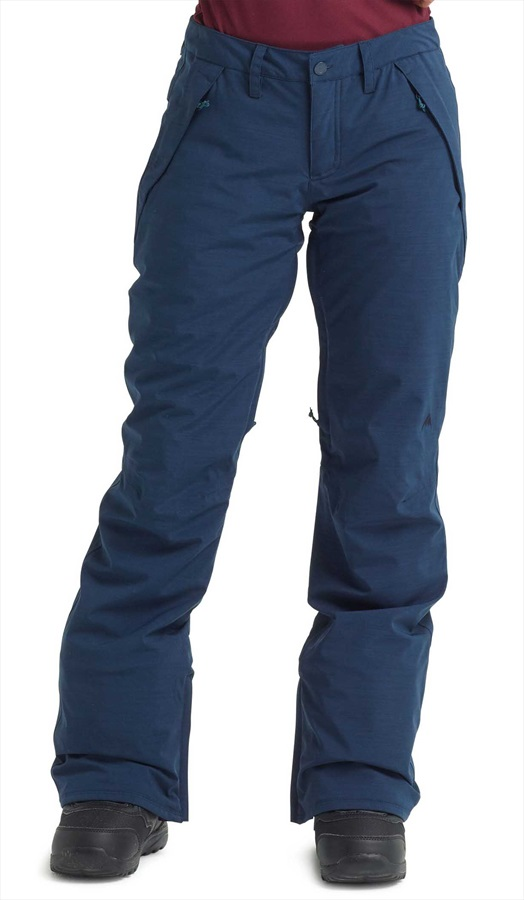 Burton Society Short Womens Snowboard/Ski Pants, L Dress Blue Heather