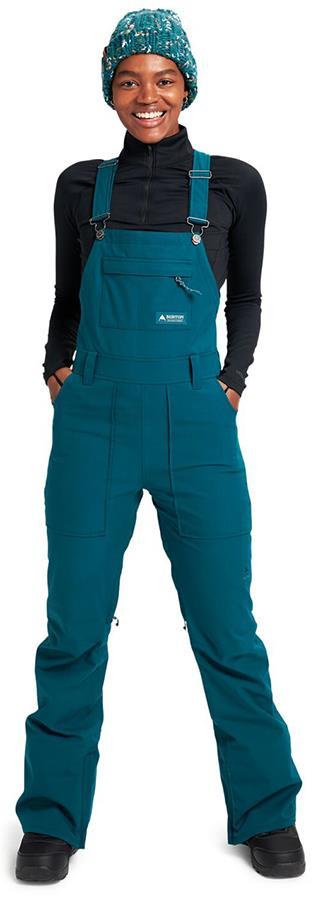 Burton Avalon Women's Snowboard/Ski Bib Pants UK 10 Shaded Spruce 2022
