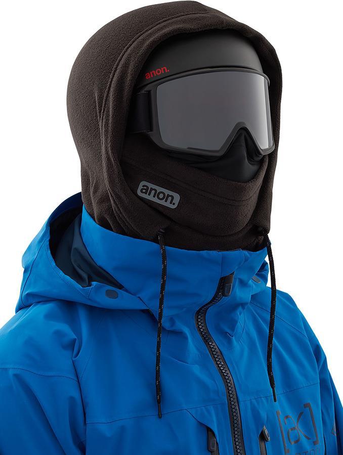 Anon Helmet Hood Balaclava MFI Fleece Facemask, Relaxed Fit Black