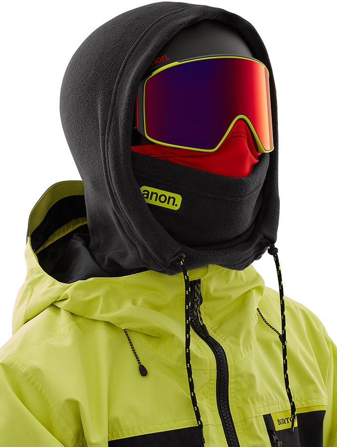 Anon Helmet Hood Balaclava MFI Fleece Facemask Relaxed Fit Black Pop