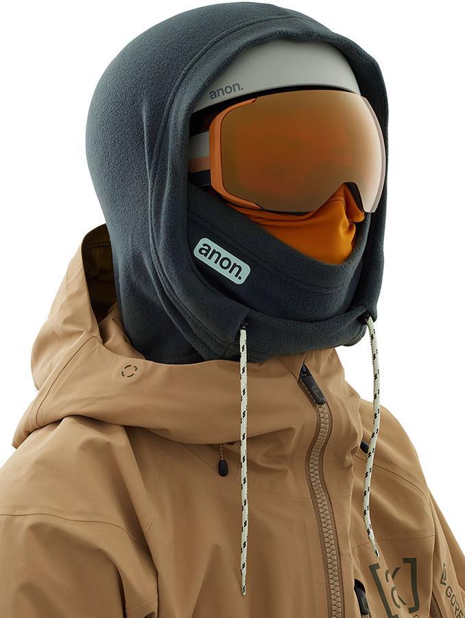 Anon Helmet Hood Balaclava MFI Fleece Facemask, Rising Grey