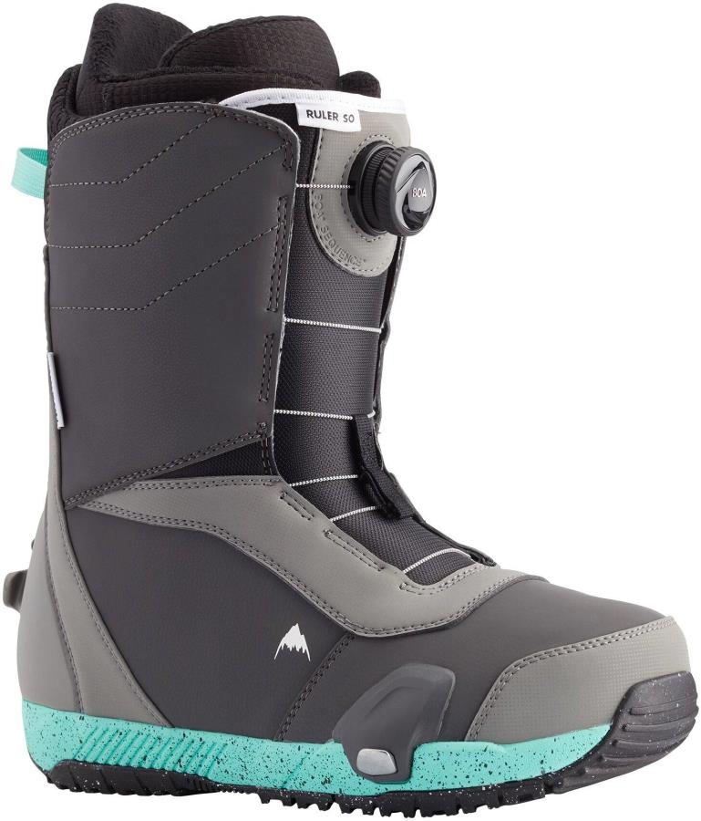 Burton Ruler Step On Snowboard Boots, UK 8 Gray/Teal 2021