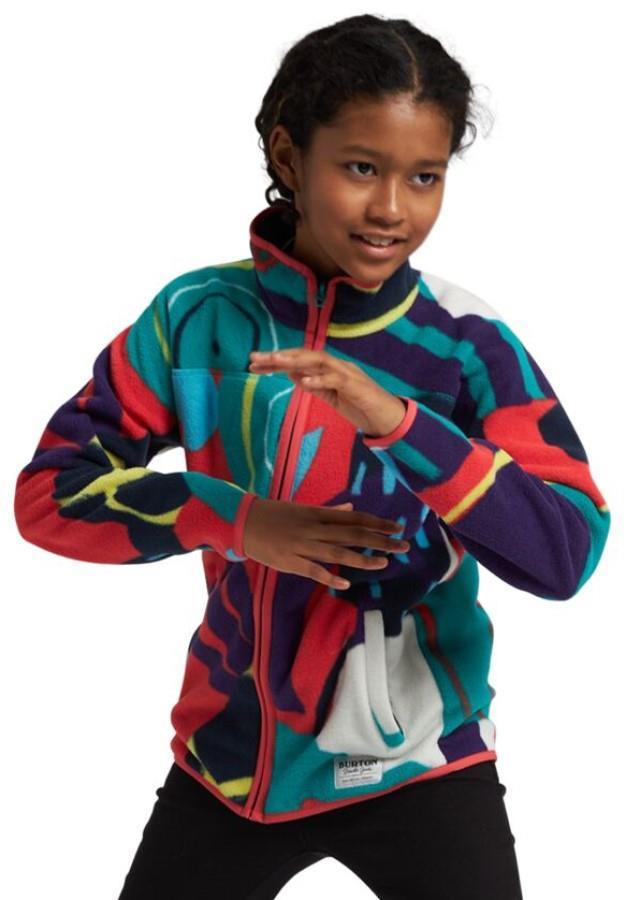 Burton Kid's Kid's Spark Full-Zip Fleece Hoodie, M Graphic Mix