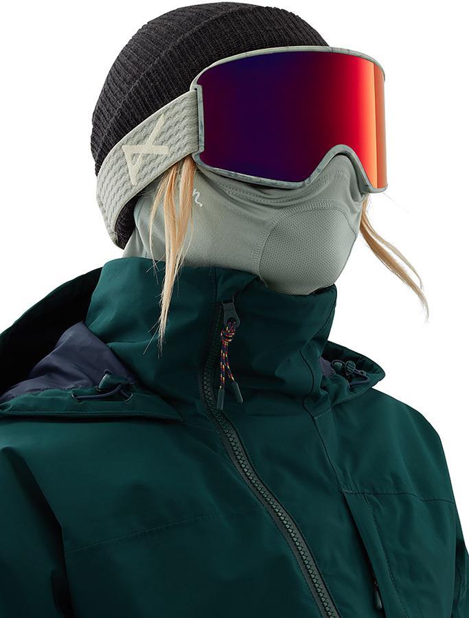 Anon Lightweight Neckwarmer Women's MFI Facemask, Relaxed Fit Grey