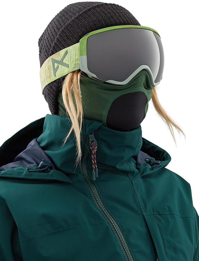 Anon Lightweight Neckwarmer Women's MFI Facemask, Relaxed Fit Green