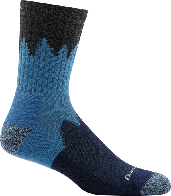 Darn Tough Adult Unisex Number 2 Micro Crew Midweight Hiking Socks, L Charcoal